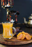 Ramadan juice for iftar made from fresh apricots with dried apricots and dates. Stock Photography