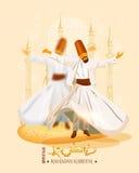 ramadan kareem的海报 库存图片