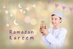 Ramadan Kareem - ευχετήρια κάρτα Στοκ Εικόνες