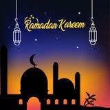 Ramadan kareem ηλιοβασιλέματος στοκ φωτογραφίες