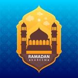 Ramadan kareem στο αφηρημένο υπόβαθρο χρώματος διανυσματική απεικόνιση