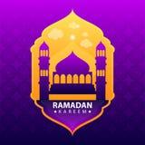 Ramadan kareem στο πορφυρό αφηρημένο υπόβαθρο ελεύθερη απεικόνιση δικαιώματος
