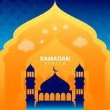 Ramadan kareem στο πράσινο αφηρημένο υπόβαθρο απεικόνιση αποθεμάτων