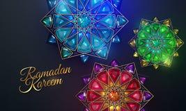 Ramadan Kareem. Abstract girih flowers. stock illustration