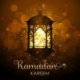 Ramadan Kareem-achtergrond - feestelijke kaart Royalty-vrije Stock Foto's