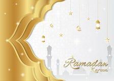 Ramadan kareem achtergrond, het concept van het premieontwerp royalty-vrije stock foto