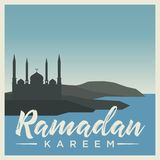 Ramadan Kareem unique calligraphy. royalty free illustration