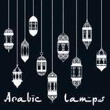 Ramadan Kareem arabic lantern design template Stock Photo