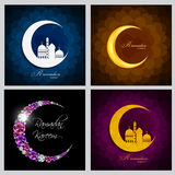 Ramadan Kareem Background Collection Set Design Fotografia Stock Libera da Diritti
