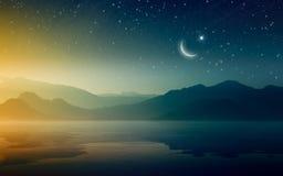 Ramadan Kareem background with crescent and stars royalty free illustration