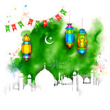 Ramadan Kareem Background. Illustration of Grungy Ramadan Kareem Background with mosque vector illustration