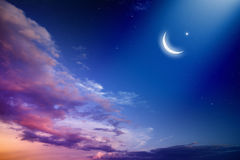Ramadan Kareem. Background with moon and stars, holy month. Elements of this image furnished by NASA nasa. gov stock photo