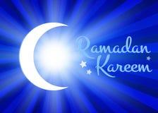 Ramadan Kareem background with moon and stars Stock Photos