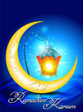 Ramadan kareem background with moon Stock Photography