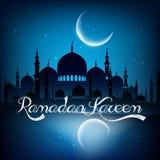 Ramadan kareem background with mosque on night Stock Photos