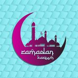 Ramadan Kareem Background, Ramadan Mubarak Background, islamischer Hintergrund stock abbildung