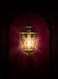 Ramadan kareem background with shiny lantern royalty free illustration