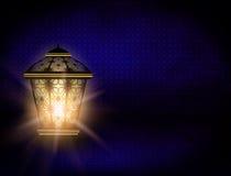 Ramadan kareem background with shiny lantern Stock Image