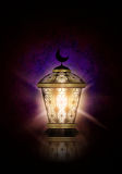 Ramadan kareem background with shiny lantern