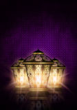 Ramadan kareem background with shiny lanterns Stock Photos