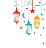 Ramadan Kareem bakgrund vektor illustrationer