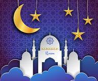 Ramadan Kareem bakgrund Royaltyfri Fotografi
