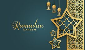 Free Ramadan Kareem Beautiful Arabic Style Pattern Background With Lanterns And Stars Copy Space Background Stock Photo - 215497450