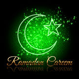 Ramadan Kareem beautiful greeting card Stock Photography