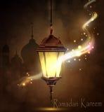 Ramadan Kareem, begroetende achtergrond Royalty-vrije Stock Foto