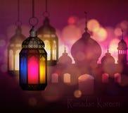 Ramadan Kareem, begroetende achtergrond royalty-vrije illustratie