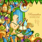 Ramadan Kareem Blessing for Eid background Royalty Free Stock Photos