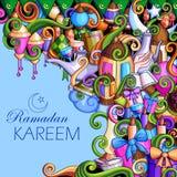 Ramadan Kareem Blessing for Eid background Stock Images