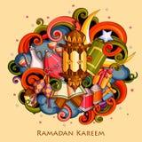 Ramadan Kareem Blessing for Eid background Stock Photo