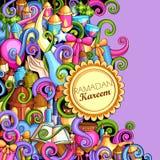Ramadan Kareem Blessing for Eid background Stock Image