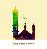 Ramadan kareem card grungy colorful mosque Stock Photo