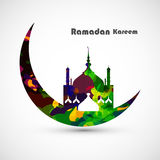 Ramadan kareem card moon concept Royalty Free Stock Photos