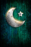 Ramadan kareem card with moon and star Royalty Free Stock Photo