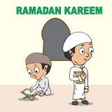 Ramadan kareem cartoon Royalty Free Stock Photography