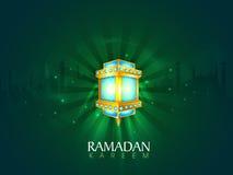 Ramadan Kareem celebration with arabic lamp. Royalty Free Stock Photos