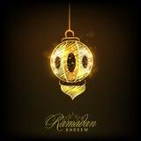 Ramadan Kareem celebration with arabic lamp. Stock Images