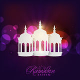 Ramadan Kareem celebration with arabic lamps or lanterns. Royalty Free Stock Photo