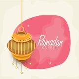 Ramadan Kareem celebration with Arabic lantern. Stock Photo