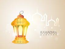 Ramadan Kareem celebration with arabic lantern. Royalty Free Stock Images