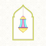 Ramadan Kareem celebration with colorful arabic lamp. Royalty Free Stock Photography