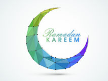 Ramadan Kareem celebration with creative moon. Stock Photography