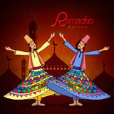 Ramadan Kareem celebration with dervish. Stock Photos