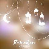Ramadan Kareem celebration greeting card. Stock Photography