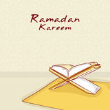 Ramadan Kareem celebration with Islamic holy book Quran Shareef. Royalty Free Stock Photos