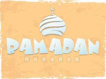 Ramadan Kareem celebration poster, banner or flyer. Stock Photos