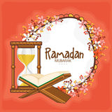 Ramadan Kareem celebration with Quran Shareef. Stock Image